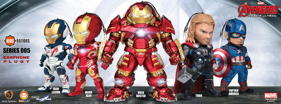 Kids Nations Series 005 Avengers: Age of Ultron Earphone