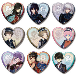Touken Ranbu Heart Badges: Collection One