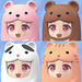 Nendoroid More: Face Parts Case (Pink Bear / Brown Bear / Tuxedo Cat / Tabby Cat)