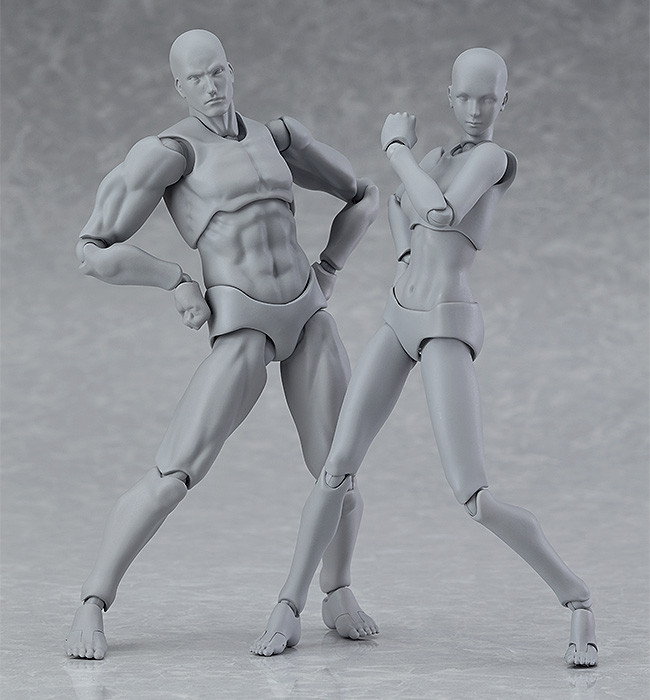 Gray Color Figma Action Figure # 03 Max Factory He FIGMA ARCHETYPE NEXT