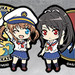 Nendoroid Plus High School Fleet Crests: Harukaze Ship Emblem & Akeno Misaki / Yokosuka Girls' Marine High School Emblem & Mashiro Munetani