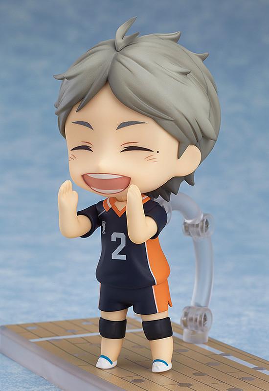 Indomitable Setter Koshi Sugawara Nendoroid Action Figure Orange Rouge Haikyu!