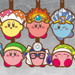 Kirby Transforming Rubber Straps (Beam Ver. / Fire Ver. / Ice Ver. / Sword Ver. / Doctor Ver. / Sleep Ver.)