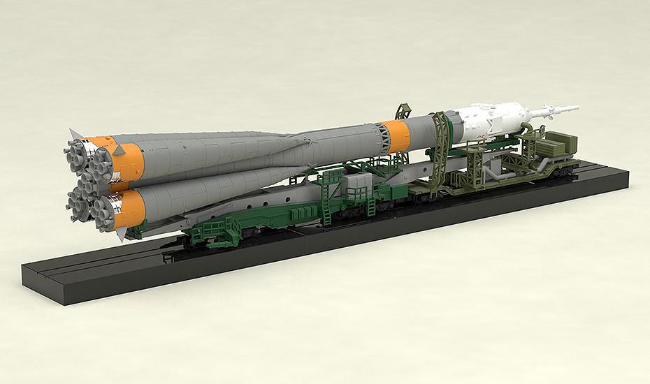 1//150 Soyuz Fusée Transport Train Modèle Plastique AUG179059 Ps Montage Type F //
