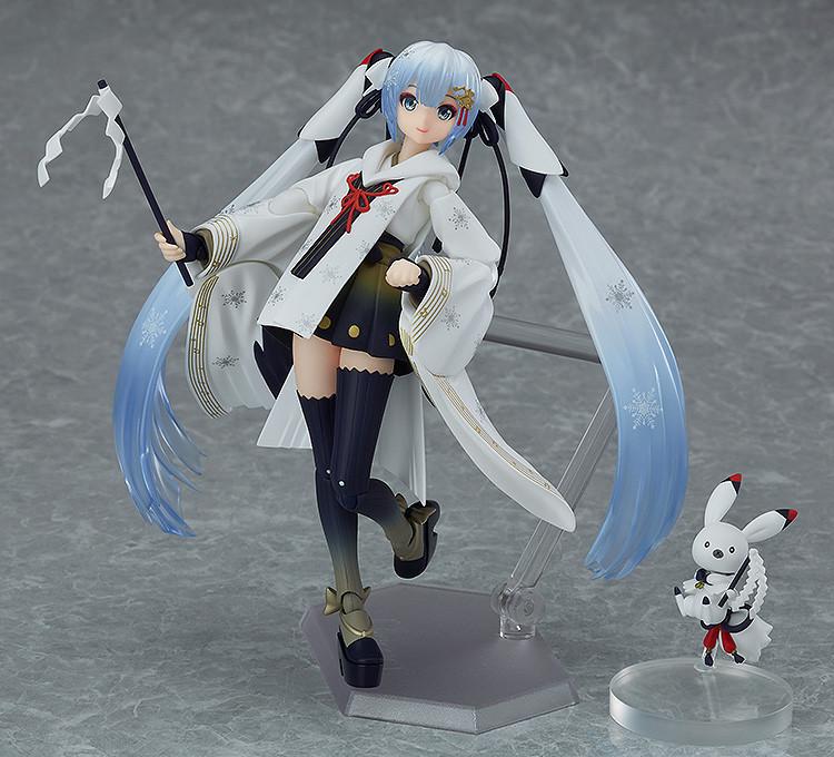 Hatsune Miku Snow Miku PVC Figure New Figma EX-045 15cm Crane Priestess Ver