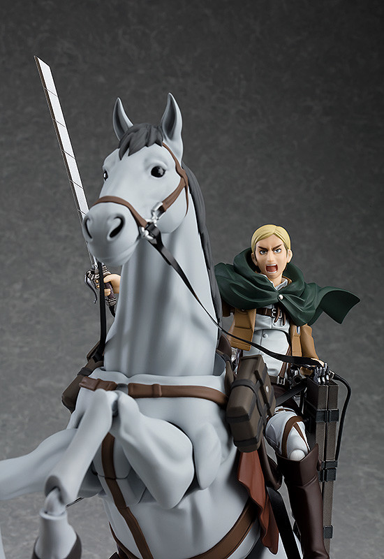 "PO Max Factory figma 446 /""Attack on Titan/"" Erwin Smith with Horse"