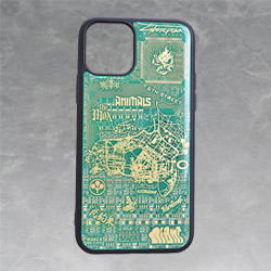 Cyberpunk 2077 Night City Map Circuit Board iPhone 11 Pro Case by PCB ART moeco