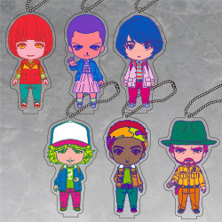 Strange Things Nendoroid Plus Retro Design Acrylic Keychains: Will (Japan Ver.)/Eleven (Japan Ver.)/Mike (Japan Ver.)/Dustin (Japan Ver.)/Lucas (Japan Ver.)/Hopper (Japan Ver.)