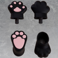 Nendoroid Doll: Animal Hand Parts Set (Black)