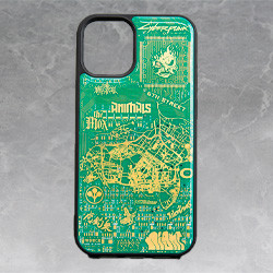 Cyberpunk 2077 Circuit Board iPhone 12 Mini Case by PCB ART moeco