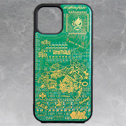 Cyberpunk 2077 Circuit Board iPhone 12/12 Pro Case by PCB ART moeco